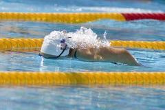 SWM :世界水上冠军-妇女400m个体混杂的人群 免版税库存照片