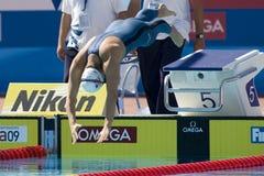 SWM :世界水上冠军-妇女400m个体混杂的人群 图库摄影