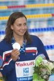 SWM :世界水上冠军-妇女50m蛙泳决赛 免版税库存照片