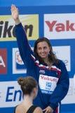 SWM :世界水上冠军-妇女50m蛙泳决赛 库存图片