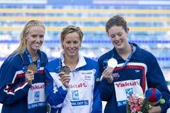 SWM :世界水上冠军-仪式妇女的200m freestyl 库存照片