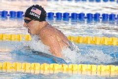 SWM :世界水上冠军-精神200m个体混杂的人群 免版税库存照片
