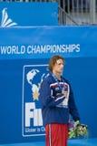 SWM :世界水上冠军-精神400m个体混杂的人群f 免版税库存图片