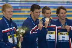 SWM :世界水上冠军-精神4 x 100m混杂的人群决赛 免版税图库摄影