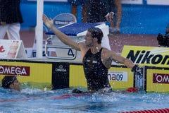 SWM :世界水上冠军-精神100m蝴蝶决赛 免版税库存图片