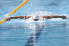 SWM :世界水上冠军- qualific精神100m的蝴蝶 图库摄影