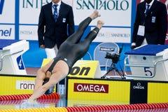 SWM: Campeonato de los Aquatics del mundo - de los 200m de la mariposa fina para hombre semi Imagenes de archivo