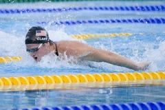 SWM: Campeonato de los Aquatics del mundo - de los 200m de la mariposa fina para hombre semi Imágenes de archivo libres de regalías