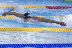 SWM: Campeonato de los Aquatics del mundo - final para hombre de la mariposa de los 200m Fotos de archivo