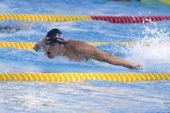 SWM: Campeonato de los Aquatics del mundo - final para hombre de la mariposa de los 200m Imagenes de archivo