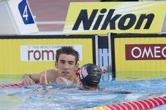 SWM: Campeonato de los Aquatics del mundo - final para hombre de la mariposa de los 200m Fotografía de archivo libre de regalías