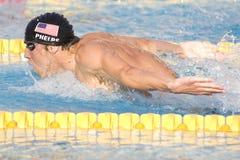 SWM: Campeonato de los Aquatics del mundo - final para hombre de la mariposa de los 200m Fotografía de archivo