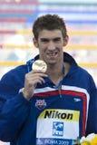 SWM: Campeonato de los Aquatics del mundo - mariposa para hombre de la ceremonia los 200m Foto de archivo