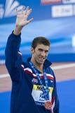 SWM: Campeonato dos Aquatics do mundo - borboleta dos homens 200m da cerimônia Imagens de Stock