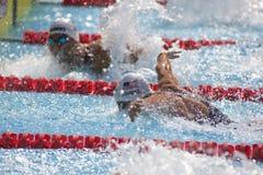 SWM: Campeonato dos Aquatics do mundo - borboleta dos homens 100m qualific Fotografia de Stock