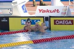 SWM: Campeonato dos Aquatics do mundo - borboleta semi fi do 100m das mulheres Fotografia de Stock Royalty Free
