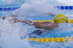 SWM: Campeonato dos Aquatics do mundo - borboleta semi fi do 100m das mulheres Imagens de Stock Royalty Free