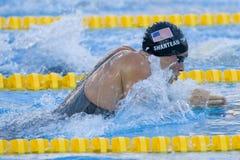SWM: Campeonato dos Aquatics do mundo - bruços semi f dos homens 100m Imagem de Stock