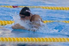 SWM: Campeonato dos Aquatics do mundo - bruços semi f dos homens 100m Imagem de Stock Royalty Free