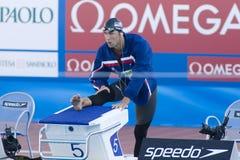 SWM: Campeonato dos Aquatics do mundo - final da borboleta dos homens 200m Fotografia de Stock Royalty Free