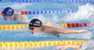 SWM: Campeonato dos Aquatics do mundo - mistura do indivíduo dos 200m das mulheres Imagens de Stock