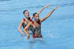 SWM: Campeonatos acuáticos del mundo - natación sincronizada Fotos de archivo
