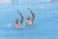 SWM: Campeonatos aquáticos do mundo - natação sincronizada Foto de Stock Royalty Free