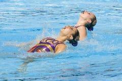 SWM: Campeonatos aquáticos do mundo - natação sincronizada Fotografia de Stock