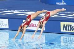 SWM: Campeonatos aquáticos do mundo - natação sincronizada Imagem de Stock Royalty Free
