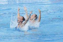SWM: Campeonatos aquáticos do mundo - natação sincronizada Foto de Stock