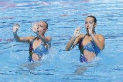 SWM: Campeonatos aquáticos do mundo - natação sincronizada Imagens de Stock