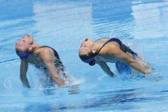 SWM: Campeonatos aquáticos do mundo - natação sincronizada Fotos de Stock Royalty Free