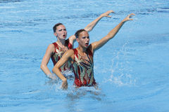 SWM: Campionati acquatici del mondo - nuoto sincronizzato Fotografie Stock
