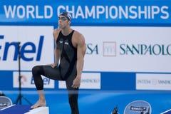 SWM: Campionato di Aquatics del mondo - fina dei semi di stile libero dei 200m degli uomini Immagini Stock Libere da Diritti