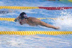 SWM: Campionato di Aquatics del mondo - finale della farfalla dei 200m degli uomini Immagini Stock