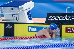 SWM: Campionato di Aquatics del mondo - finale di dorso del 100m delle donne Fotografie Stock Libere da Diritti
