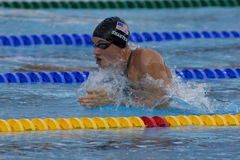 SWM: Campionato di Aquatics del mondo - finale di miscuglio dei 4 x del 100m degli uomini Immagini Stock Libere da Diritti