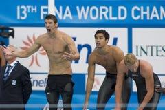 SWM: Campionato di Aquatics del mondo - finale di stile libero dei 4 x dei 200m degli uomini Fotografia Stock