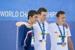SWM: Campionato di Aquatics del mondo - finale di stile libero dei 200m degli uomini Immagini Stock Libere da Diritti