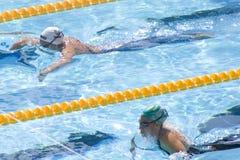 SWM : Championnat d'Aquatics du monde - breastroke de 200m des femmes Image libre de droits