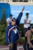 SWM : Championnat d'Aquatics du monde - des hommes de 50m de style libre fina semi Photo stock