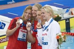 SWM : Championnat d'Aquatics du monde - fina de style libre de 4 x de 100m des hommes Photos stock