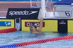 SWM : Championnat d'Aquatics du monde - finale de dos crawlé de 200m des femmes Images stock