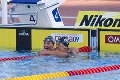 SWM : Championnat d'Aquatics du monde - finale de dos crawlé de 200m des femmes Photo stock