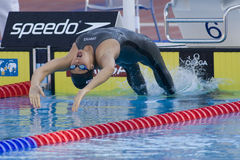 SWM : Championnat d'Aquatics du monde - finale de dos crawlé de 200m des femmes Photographie stock libre de droits