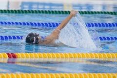 SWM : Championnat d'Aquatics du monde - finale de mélange de 4 x de 100m des hommes Image stock