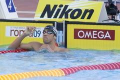 SWM : Championnat d'Aquatics du monde - finale de papillon de 200m des hommes Images libres de droits