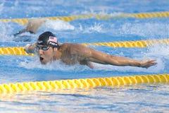 SWM : Championnat d'Aquatics du monde - finale de papillon de 200m des hommes photos libres de droits