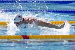 SWM : Championnat d'Aquatics du monde - mélange de la personne des hommes 400 Photos stock