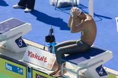 SWM : Championnat d'Aquatics du monde - papillon de 200m des hommes Images libres de droits
